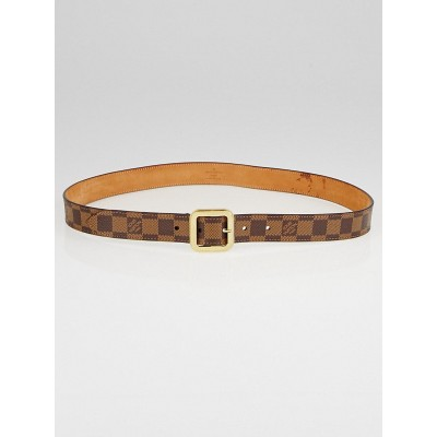 Louis Vuitton Damier Canvas Square Buckle Belt Size 95/38