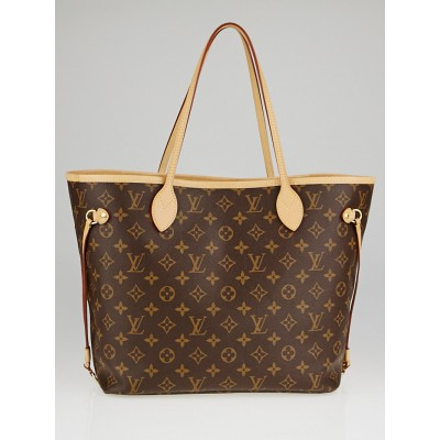 Louis Vuitton Monogram Canvas Pivoine Neverfull MM NM Bag w/o Clutch