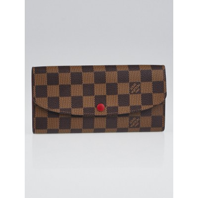 Louis Vuitton Damier Canvas Red Emilie Wallet