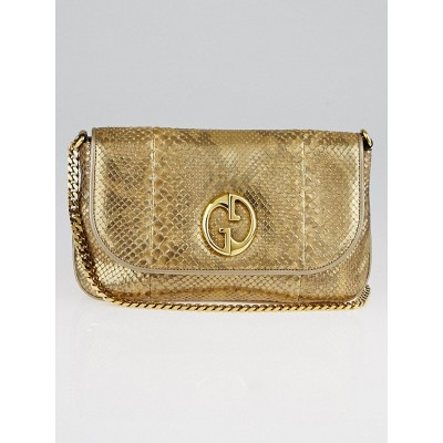Gucci Gold Python 1973 Chain Shoulder Bag