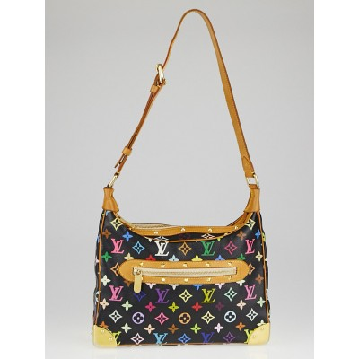 Louis Vuitton Black Monogram Multicolore Boulogne Bag