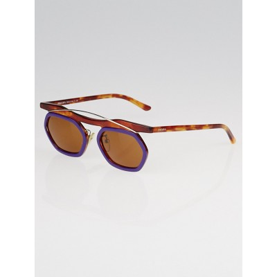 Prada Purple and Tortoise Shell Frame Tinted Sunglasses SPR02P