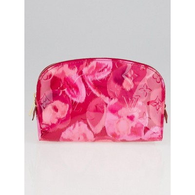 Louis Vuitton Limited Edition Rose Indian Monogram Vernis Ikat Cosmetic Pouch
