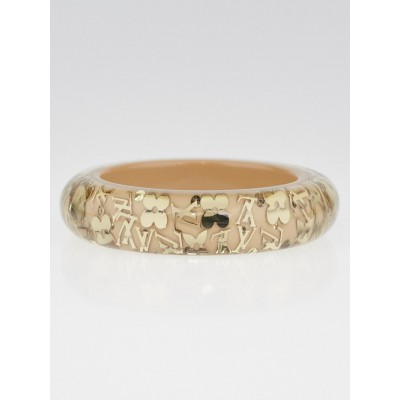 Louis Vuitton Beige Resin Monogram Inclusion GM Bracelet