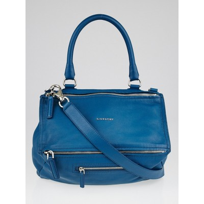 Givenchy Turquoise Sugar Goatskin Leather Medium Pandora Bag
