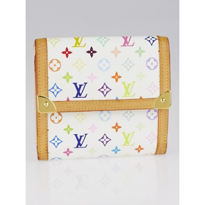 Louis Vuitton White Monogram Multicolore Elise Wallet
