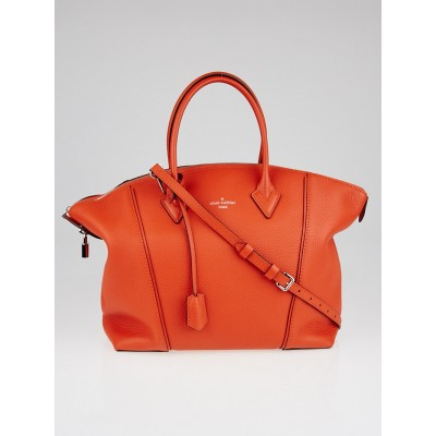 Louis Vuitton Clementine Veau Cachemire Calfskin Leather Soft Lockit MM Bag