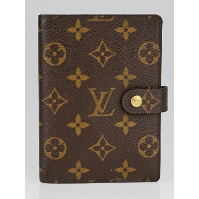 Louis Vuitton Monogram Canvas Small Ring Agenda Cover