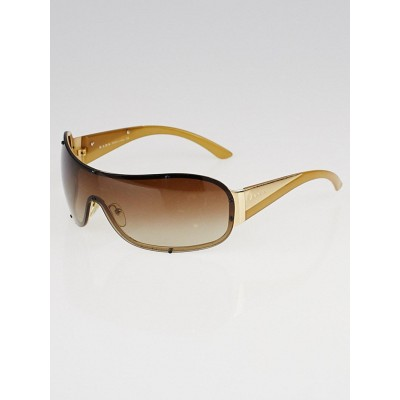 Prada Goldtone Metal Shield Sunglasses - SPR63H