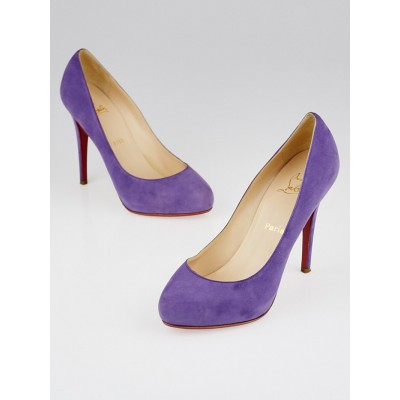Christian Louboutin Lavender Suede New Declic 120 Pumps Size 9/39.5