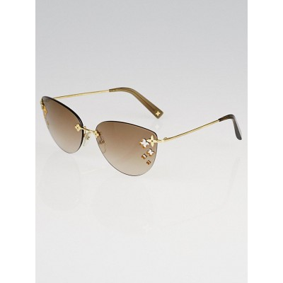 Louis Vuitton Brown Rimless Desmayo Sunglasses Z0051U