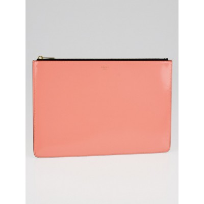 Celine Flamingo Leather Clutch Pouch Bag