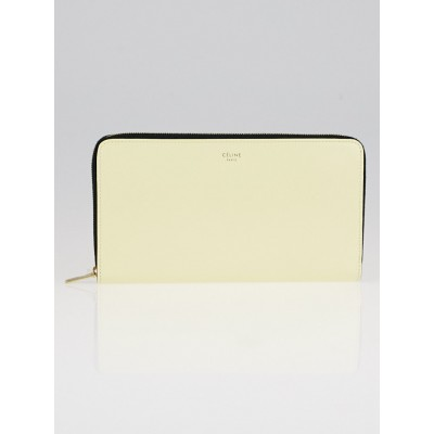 Celine Yellow Leather Zipped Multifunction Wallet