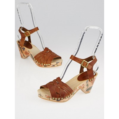 Isabel Marant Henna Leather Bianca Sandals Size 5.5/36