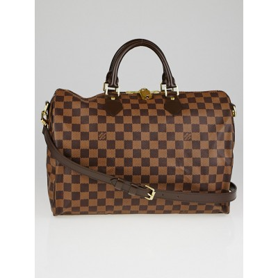 Louis Vuitton Damier Canvas Speedy 35 Bandouliere Bag