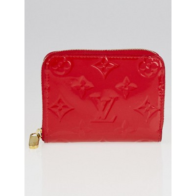 Louis Vuitton Cerise Monogram Vernis Zippy Coin Purse