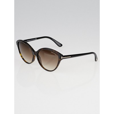 Tom Ford Tortoise Shell Acetate Cat-Eye Frame Priscila Sunglasses -TF342