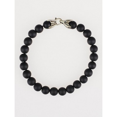 David Yurman 8mm Matte Black Onyx Spiritual Bead Bracelet