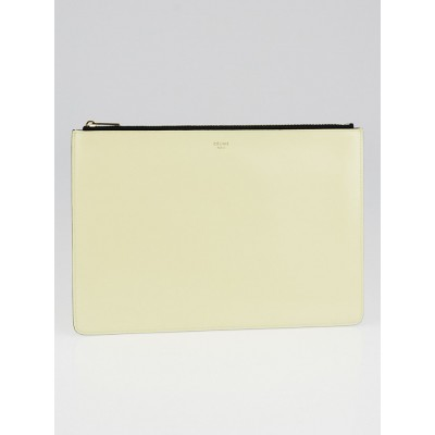 Celine Yellow Leather Clutch Pouch Bag
