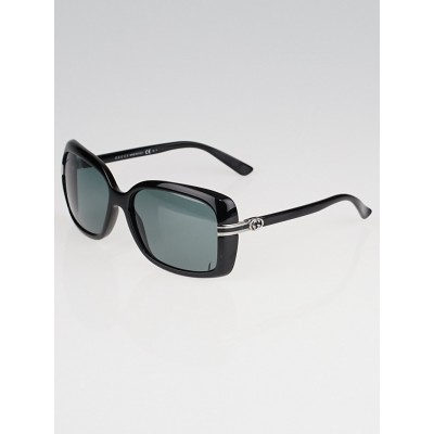 Gucci Black Frame Rectangle Sunglasses-3188/S