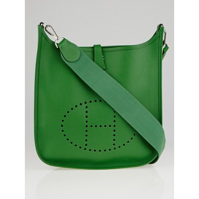 Hermes Vert Clair Epsom Leather Evelyne III PM Bag