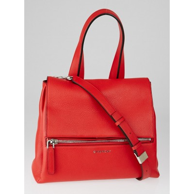 Givenchy Red Leather Pandora Pure Small Bag