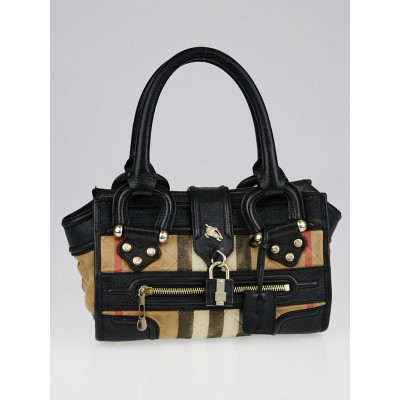 Burberry House Check Quilted Canvas and Leather Mini Manor Tote Bag