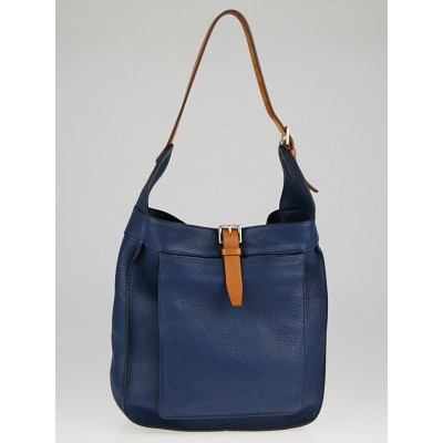 Hermes Bleu de Malte Clemence Leather Marwari PM Bag