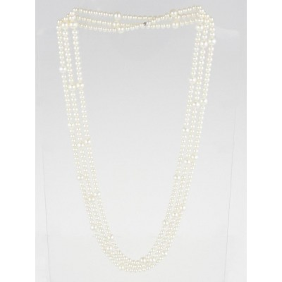 Tiffany & Co. Freshwater Pearls and Sterling Silver Ziegfield Long Necklace