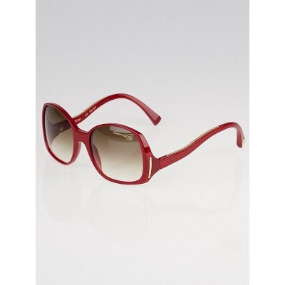 Louis Vuitton Red Speckling Acetate Frame Gina Sunglasses Z0075W