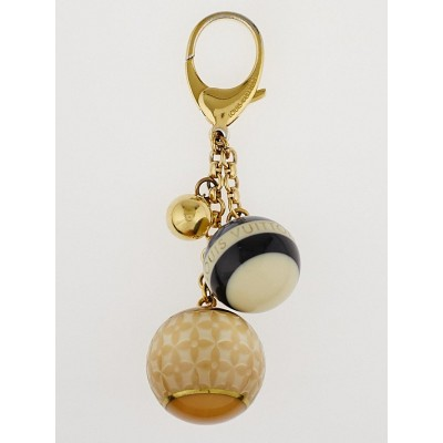 Louis Vuitton Blue/Beige Resin Monogram Mini Lin Key Holder and Bag Charm