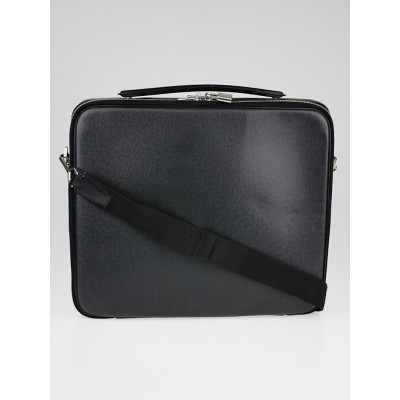 Louis Vuitton Black Taiga Leather Laptop Bag