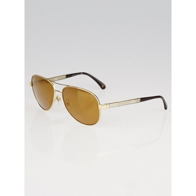 Chanel Goldtone Metal Frame Aviator Sunglasses- 4179