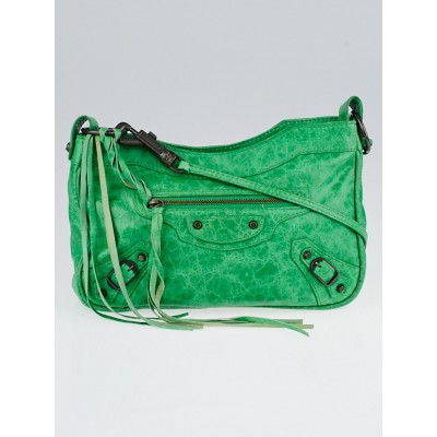 Balenciaga Vert Poker Lambskin Leather Motorcycle Hip Bag