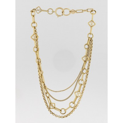 Louis Vuitton Goldtone Vegas Chain Necklace