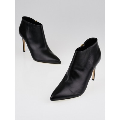 Gucci Black Leather Pointed-Toe Ankle Boots Size 6.5/37