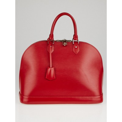 Louis Vuitton Carmine Epi Leather Alma GM Bag
