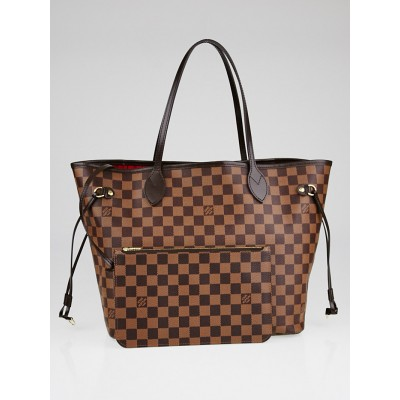 Louis Vuitton Damier Canvas Neverfull MM NM Bag w/ Accessories Pochette