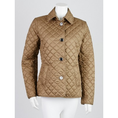 Burberry Brit Olive Quilted Polyester Copford Jacket Size S