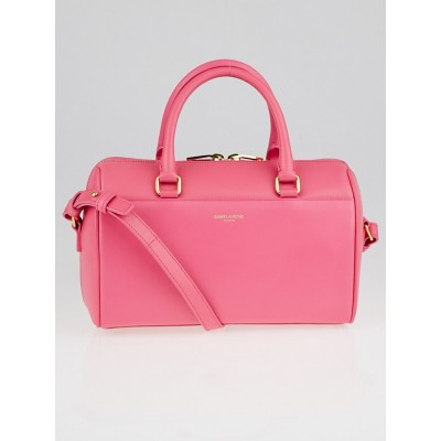 Yves Saint Laurent Pink Smooth Calfskin Leather Classic Baby Duffle Bag