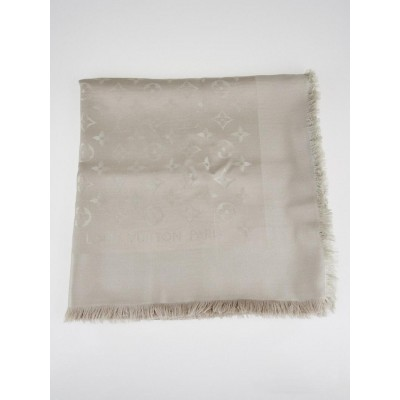 Louis Vuitton Dune Monogram Silk/Wool Shawl Scarf