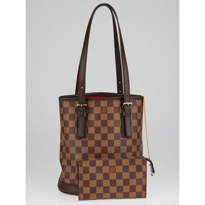 Louis Vuitton Damier Canvas Marais Bucket Bag w/Accessories Pochette