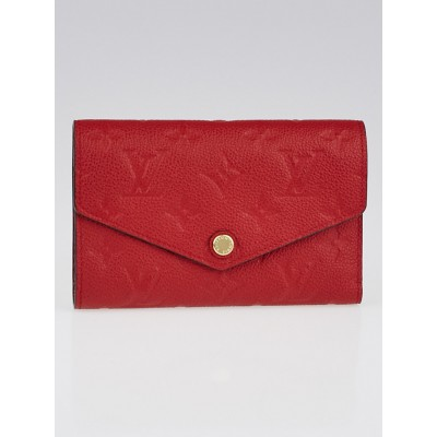 Louis Vuitton Cerise Empreinte Leather Compact Curieuse Wallet