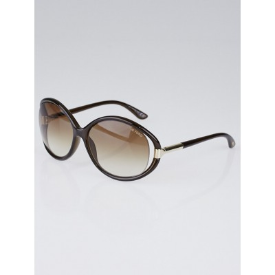 Tom Ford Brown Frame Oversized Sandrine Sunglasses -TF124