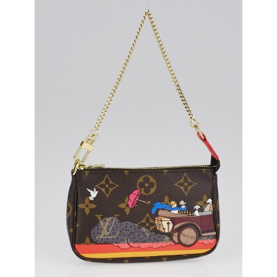 Louis Vuitton Limited Edition Monogram Canvas Illustre Mini Accessories Pochette Bag