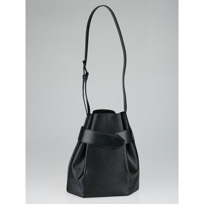 Louis Vuitton Black Epi Leather Sac D'Epaule PM Bag