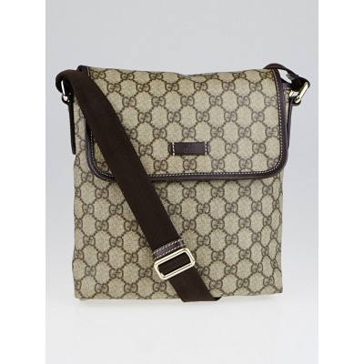 Gucci GG Brown Supreme Monogram Coated Canvas Small Messenger Bag