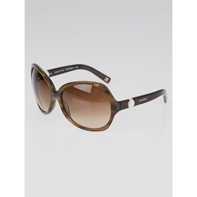 Chanel Brown Frame Brown Tint Pearl Sunglasses 5141-H