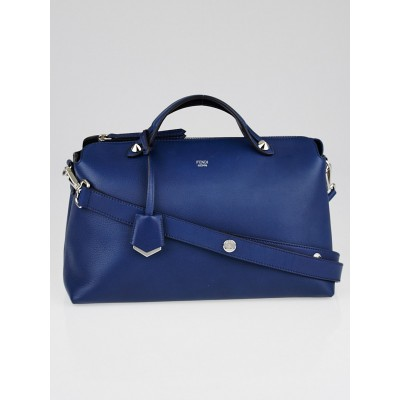 Fendi Blue Leather Large By the Way Bag 8BL125
