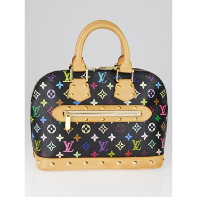 Louis Vuitton Black Monogram Multicolor Alma Bag